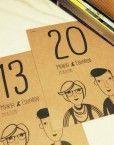 mesero-boda-dibujo personalizado-novios-numero-mesa-enlace-hipster-moderna-diferente-rustica-original-cool