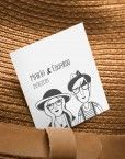 pegatina-boda-dibujo-personalizado-pareja-hipster-moderna-informal-divertida-diferente-original
