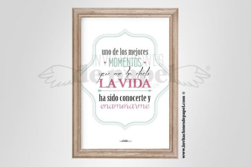 Lamina con Frase Personalizada para Regalar